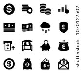 solid vector icon set   dollar... | Shutterstock .eps vector #1070122502