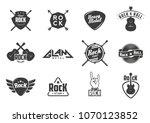 set of vintage hard rock badges ... | Shutterstock .eps vector #1070123852