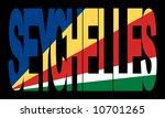 colorful seychelles text with...   Shutterstock .eps vector #10701265
