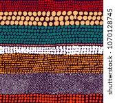 seamless striped pattern. ink... | Shutterstock .eps vector #1070128745