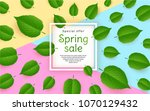 abstract banner for sale with... | Shutterstock .eps vector #1070129432