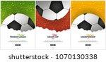 set of football or soccer... | Shutterstock .eps vector #1070130338