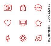 linear communication icons set. ...