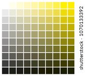 cmyk color chart to use in... | Shutterstock .eps vector #1070133392