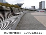 benches on the background of... | Shutterstock . vector #1070136812