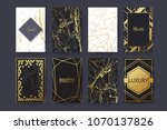 vector collection of marble and ... | Shutterstock .eps vector #1070137826