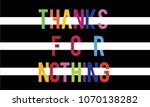 thanks for nothing colourful... | Shutterstock .eps vector #1070138282