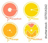 citrus fruits icons   design... | Shutterstock .eps vector #107014262