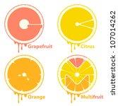 citrus fruits icons   design... | Shutterstock .eps vector #107014262