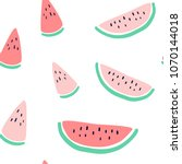 vector tropical fruit... | Shutterstock .eps vector #1070144018