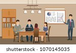 business people meeting in... | Shutterstock .eps vector #1070145035
