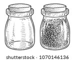 dried lavender in a glass jar...   Shutterstock .eps vector #1070146136