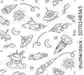vector seamless pattern with... | Shutterstock .eps vector #1070148365