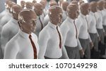 army of artificial workers  3d... | Shutterstock . vector #1070149298