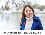 young woman springtime in... | Shutterstock . vector #1070156756