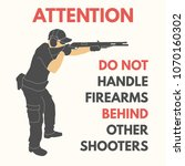 practical shooting safety rules.... | Shutterstock .eps vector #1070160302