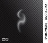 realistic vector smoke isolated ... | Shutterstock .eps vector #1070162255