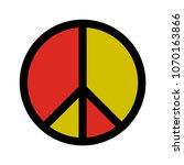 peace symbol vector | Shutterstock .eps vector #1070163866