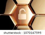 golden unlock icon in the...   Shutterstock . vector #1070167595