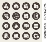 data security icon set | Shutterstock .eps vector #1070169896