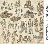 an hand drawn collection of... | Shutterstock . vector #1070170538