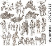 an hand drawn collection of... | Shutterstock . vector #1070171915