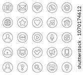 thin lines web icons set  ...