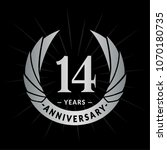 14 years anniversary. elegant... | Shutterstock .eps vector #1070180735