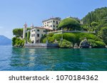 villa del balbianello on lake... | Shutterstock . vector #1070184362