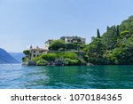 villa del balbianello on lake... | Shutterstock . vector #1070184365