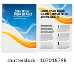 vector business brochure  flyer ... | Shutterstock .eps vector #107018798