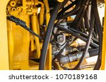 hydraulic system  steel tubes... | Shutterstock . vector #1070189168