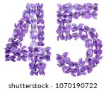 arabic numeral 45  forty five ... | Shutterstock . vector #1070190722