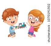 vector illustration of kids... | Shutterstock .eps vector #1070191502