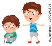 vector illustration of kid... | Shutterstock .eps vector #1070191505
