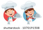 vector illustration of chef... | Shutterstock .eps vector #1070191508