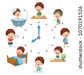 vector illustration of kids...   Shutterstock .eps vector #1070191526