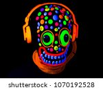 uv fluorescent scary mask with... | Shutterstock . vector #1070192528