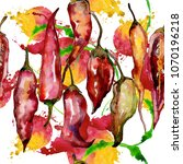 pepper wild vegetables in a... | Shutterstock . vector #1070196218