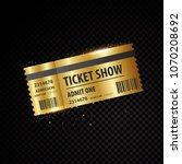 set of eleven vector tickets... | Shutterstock .eps vector #1070208692