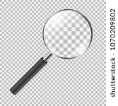 realistic magnifying glass.... | Shutterstock .eps vector #1070209802