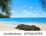 island lagoon coconut getaway  | Shutterstock . vector #1070213795