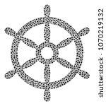 boat steering wheel composition ... | Shutterstock .eps vector #1070219132