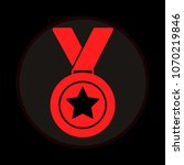 medal with star for 1st  first... | Shutterstock .eps vector #1070219846