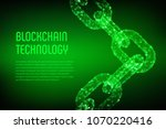 block chain. crypto currency.... | Shutterstock .eps vector #1070220416