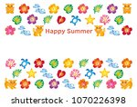 summer greeting card with... | Shutterstock .eps vector #1070226398