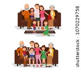 happy happy family toghether on ... | Shutterstock .eps vector #1070229758