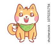 shiba inu  cute happy  adorable ... | Shutterstock .eps vector #1070231756