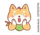 shiba inu  surprised ... | Shutterstock .eps vector #1070233745