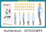 female doctor character... | Shutterstock .eps vector #1070233895